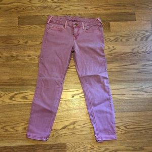 True religion cropped pink jeans size 31